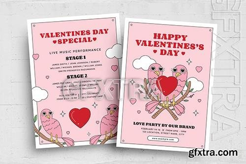 Retro Valentines Flyer Template L4ZYSG5
