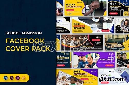 School Admission Facebook Cover Banner Template JDJS8UU