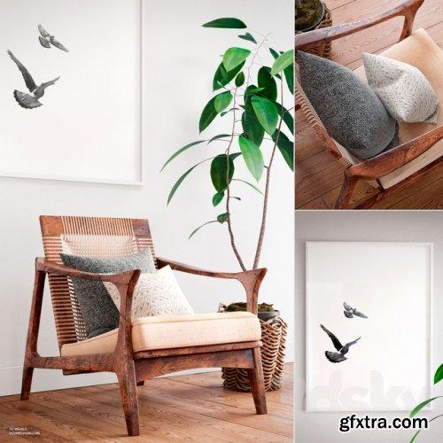 Canoe Lounge Chair. Scandinavian set