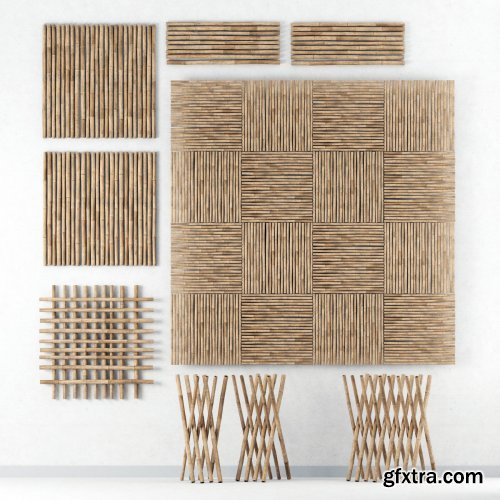 Decor of bamboo collection 3D model