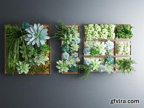 Wall Plant Decoration 3d model