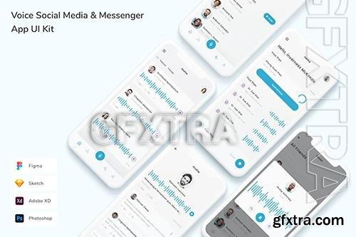 Voice Social Media & Messenger App UI Kit V5Q7JGN