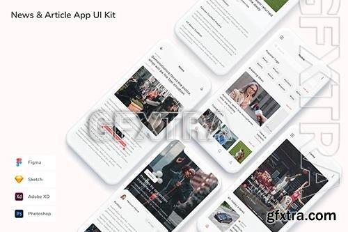 News & Article App UI Kit LY8N82M