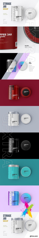 CreativeMarket - Metallic Storage Open Jar. Top view 5509179