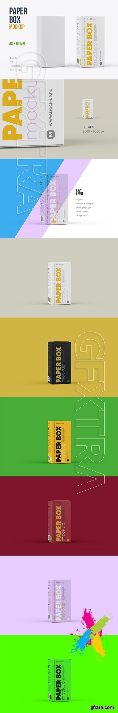 CreativeMarket - Paper Box Mockup 43x92mm 5740336