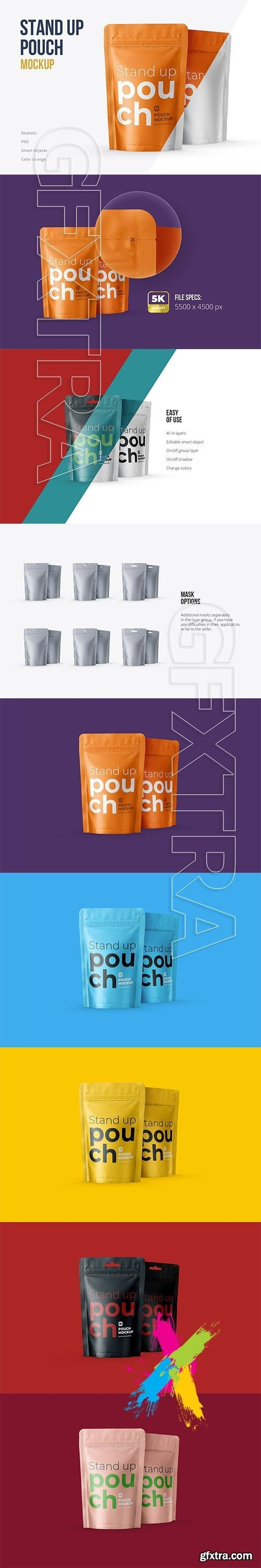 CreativeMarket - Stand Up Pouch Front and Half Side 5161150