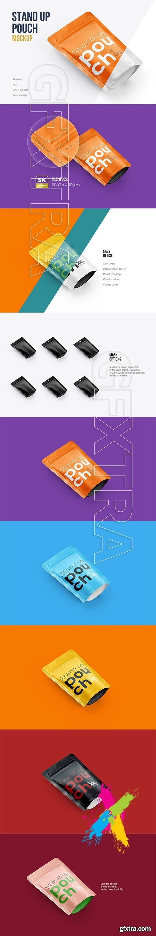 CreativeMarket - Stand Up Pouch Mockup Top Half Side 5142934