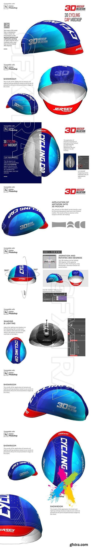 CreativeMarket - 3D Cycling Cap Mockup 5558129
