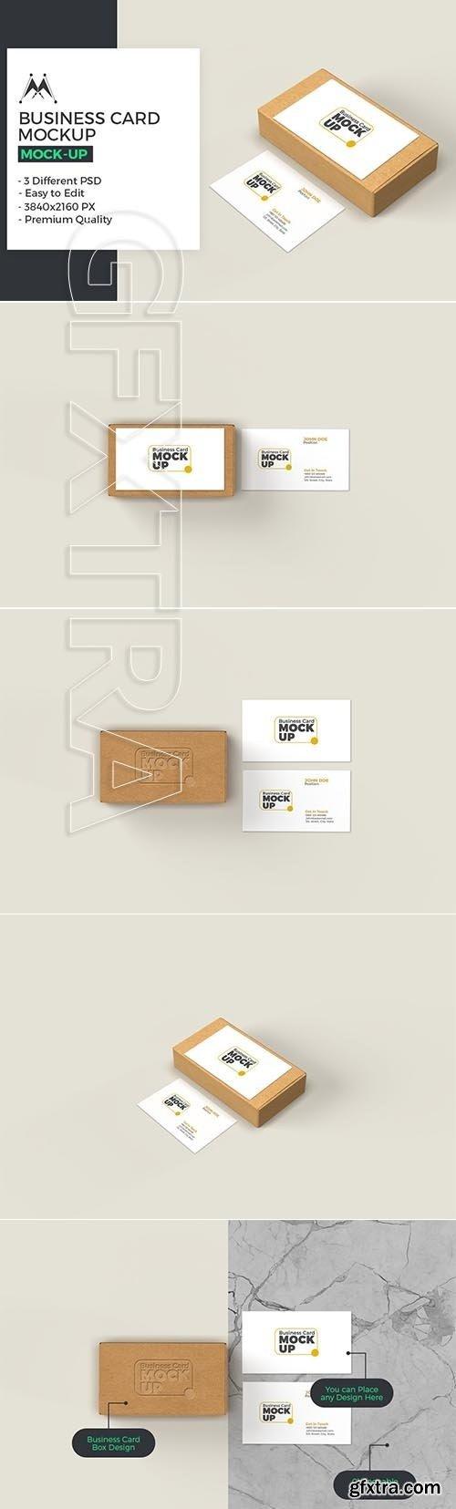 CreativeMarket - Business Card with Box Mockup 5717484