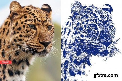 CreativeMarket - Stamp Art Photoshop Action 3523918