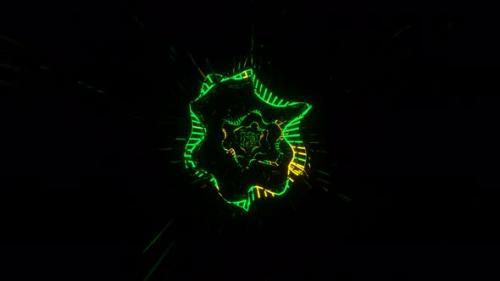 Videohive - VJ Loop Disco Amorphous Neon Tunnel - 34228774 - 34228774