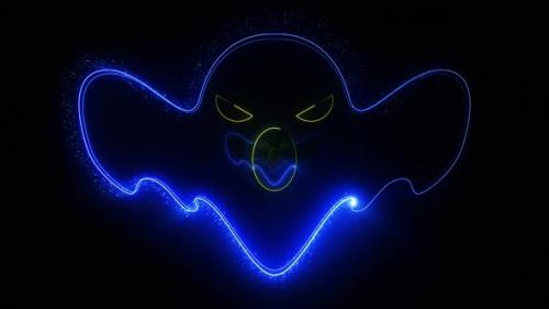 Videohive - Neon Ghost Shapes, Loopable Background - 34230675 - 34230675