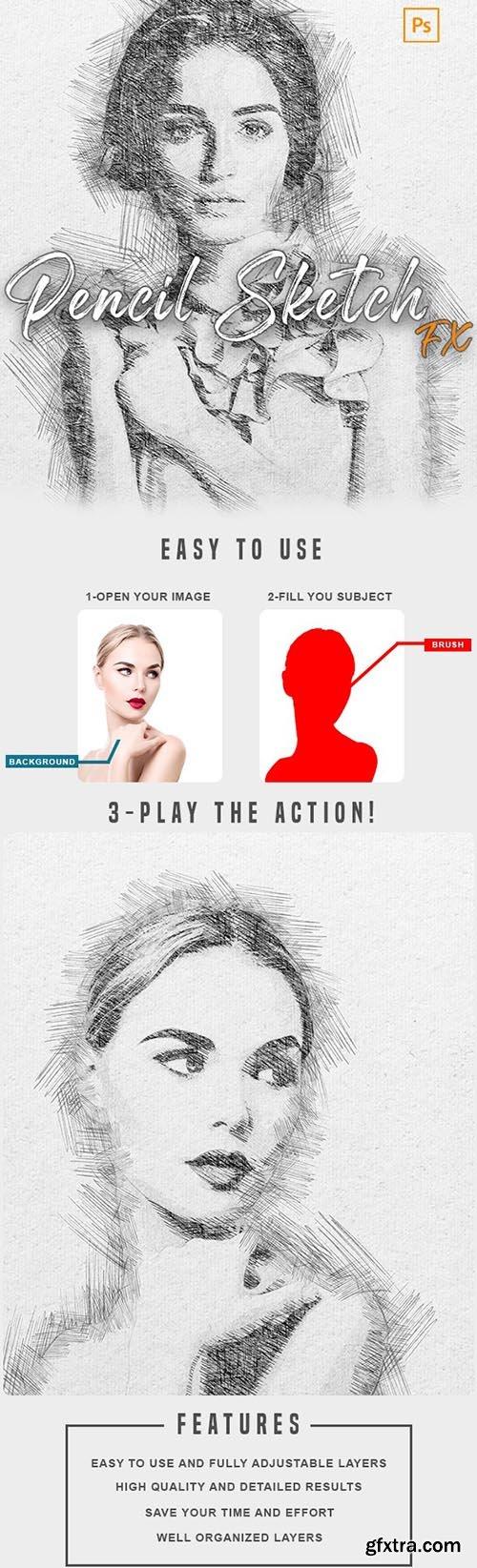 GraphicRiver - Pencil Sketch Fx - Photoshop Action 33954226