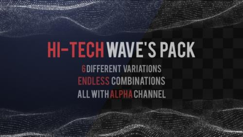 Videohive - HiTech Waves Pack - 25575405 - 25575405