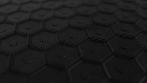 Videohive - Hexagons Black Scratched Metal Plate - 29986036 - 29986036