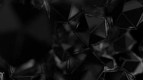 Videohive - Abstract Fly Through Black - 30013845 - 30013845