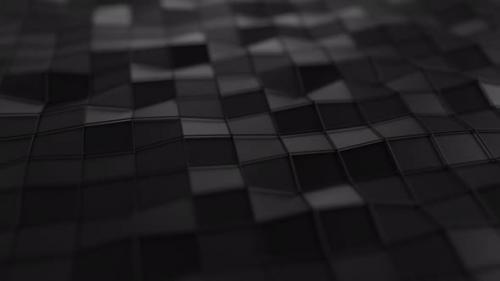Videohive - Animated Low Poly Wavy Black Background - 30072549 - 30072549