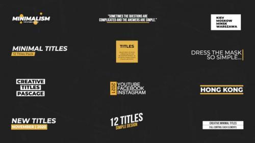 Videohive - Minimal Titles | Premiere Pro (MOGRT) - 34317532 - 34317532