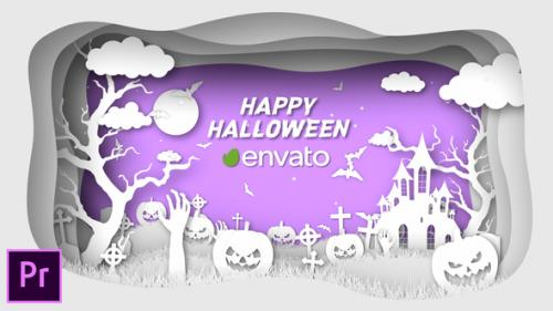 Videohive - Paper Cut Halloween Wishes - Premiere Pro - 34323536 - 34323536