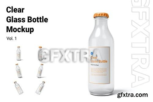 Clear Glass Bottle Mockup Vol.1 Y6G9MZU