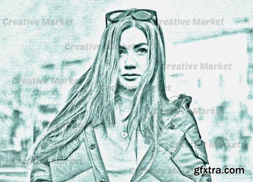 CreativeMarket - Modern Halftone Photoshop Action 6539945