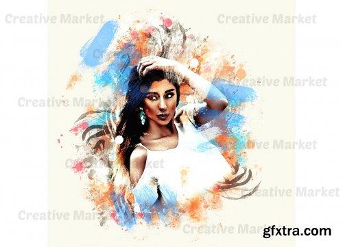 CreativeMarket - Vintage Painting Photoshop Action 6547993