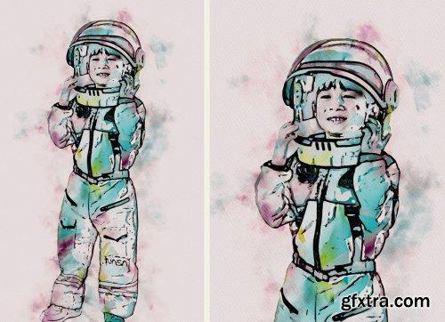 CreativeMarket - Advance Watercolor Effect 6519258