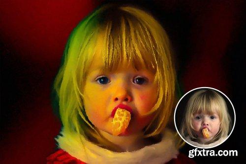CreativeMarket - Oil Paint Photoshop Effect 6318198