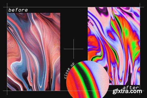 CreativeMarket - Iridescent Texture Action Kit 6277722