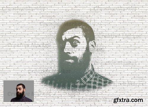 CreativeMarket - Stencil Art Photoshop Action 6552635