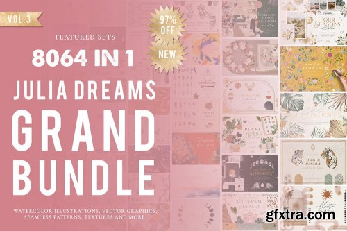 CreativeMarket - 8064 in 1 - GRAPHICS GRAND BUNDLE 6117521