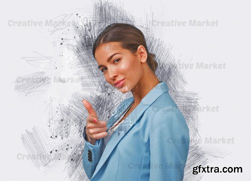 CreativeMarket - Stylish Sketch Art PS Action 6561769