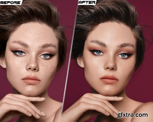 Skin Retouching HDR Fashion Photoshop Action