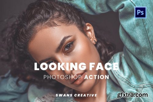 Looking Face Photoshop Action