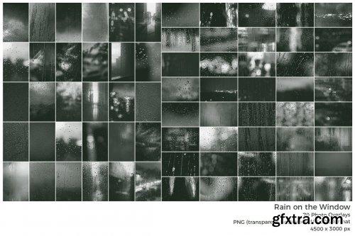 CreativeMarket - Raindrops on the Window Overlays 6521973
