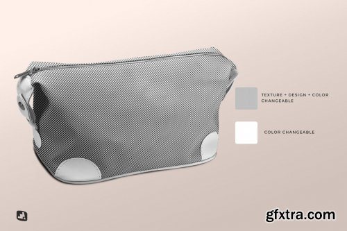 CreativeMarket - Leather Makeup Bag Mockup 6238529
