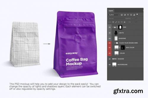 CreativeMarket - Coffee Bag PSD Mockups 6024410