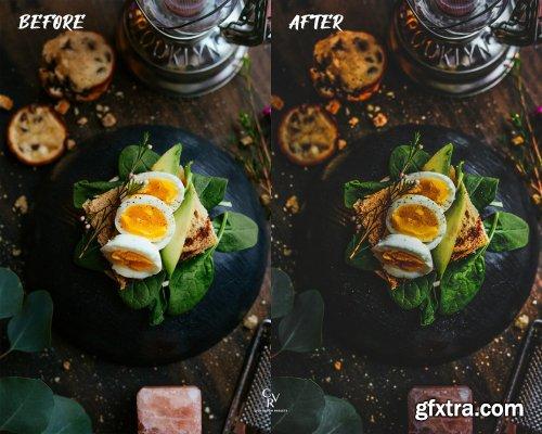 CreativeMarket - 6 Dark Food Lightroom Presets 6426609
