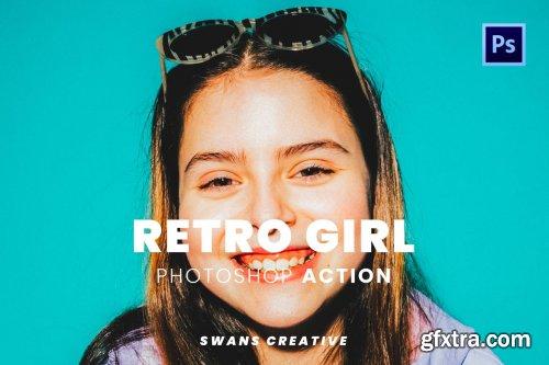Retro Girl Photoshop Action
