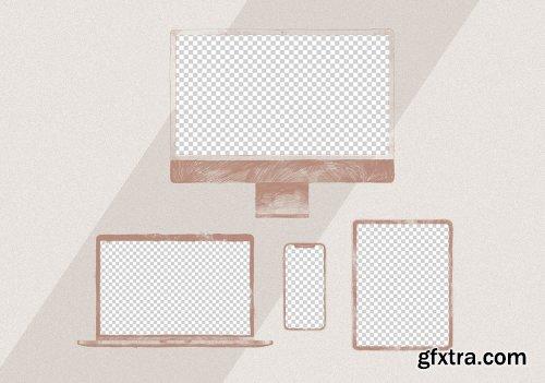 Draw Illustration Display Mockup