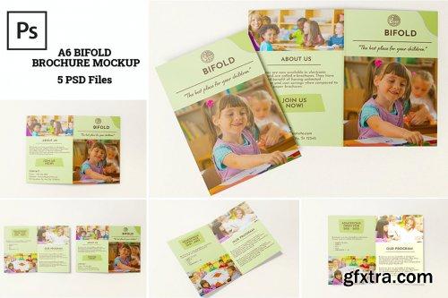 A6 Bifold Brochure Mockups