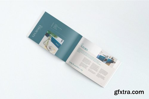 A4 Landscape Magazine Mockups