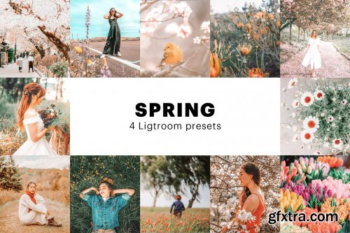 CreativeMarket - 4 Spring Lightroom Presets 5627531
