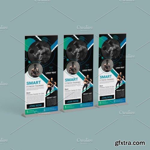 CreativeMarket - Fitness Roll Up Design Templates 5629703
