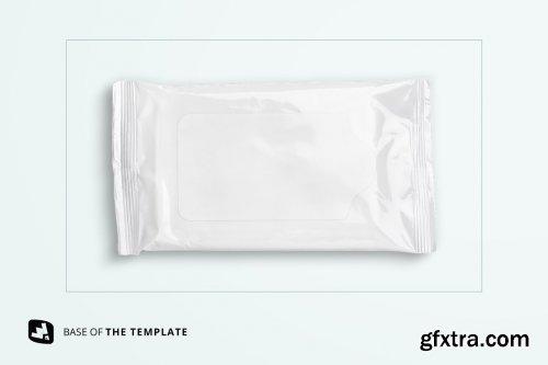 CreativeMarket - Disposable Wipes Packaging Mockup 5180083
