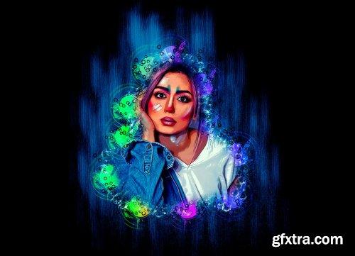 CreativeMarket - Mixed Art Photoshop Action 5461820