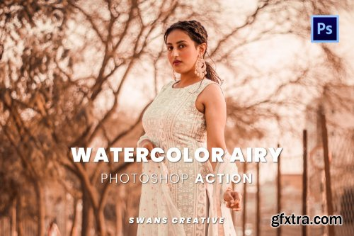Watercolor Airy Photoshop Action