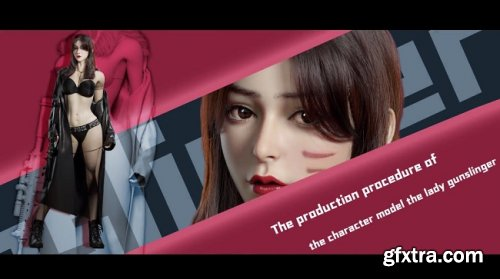 WingFox – Lady Gunslinger – A tutorial of production of a model of a fair lady character