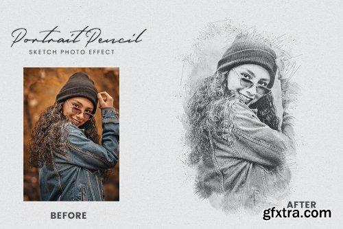Portrait Pencil Sketch Photo Effect
