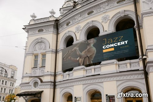 Opera or Theatre Building Banner mock-up